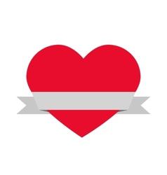 heart and ribbon vector image