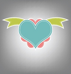 heart retro design vector image vector image