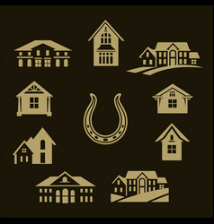 house set gold vector image vector image
