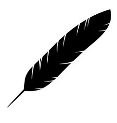 Icon of the bird feather vector