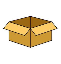 isolated box icon vector image vector image