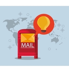 mail message envelope with communication icons vector image