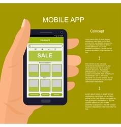 Mobile app interface design vector