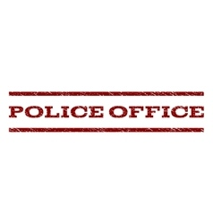 Police office watermark stamp vector