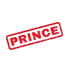 Prince Rubber Stamp vector image
