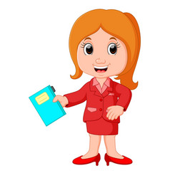 Profession costume of teacher for kids vector