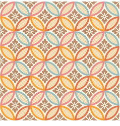 seamless japanese style fabric pattern vector image