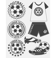 Set of football soccer emblem design elements vector image