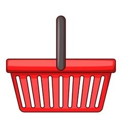 Shopping basket icon cartoon style vector