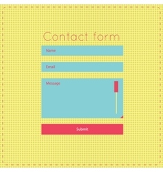 Simple retro vintage contact us form templates vector image