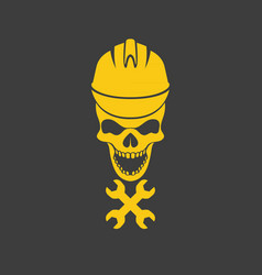 Skull logo icon design vector
