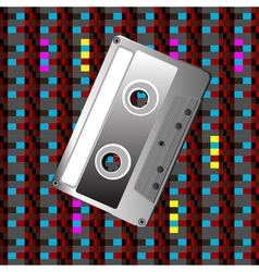 tape on a digital pattern vector image