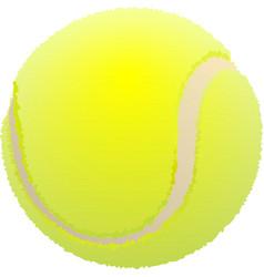Tennis ball Ball for lawn tennis vector image vector image