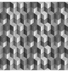 3d monochrome cubes background vector image