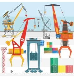 Sea transportation and logistic infographics vector