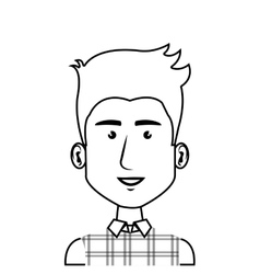 Young man character icon vector