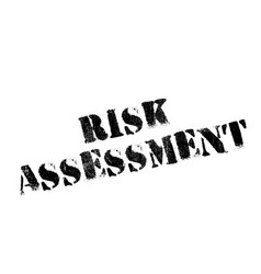 Risk assessment rubber stamp vector