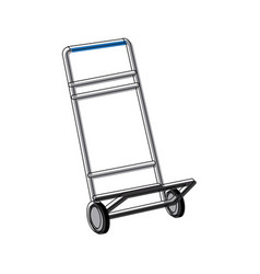 Hand cart cargo transportation delivery equipment vector