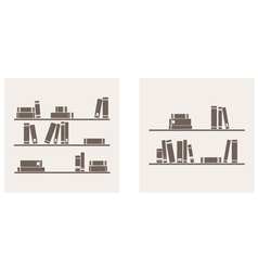Books on the shelf set - simply retro vector