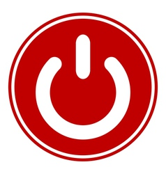 Power symbol button vector