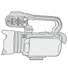 isolated video camera vector image