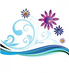 summer natural background vector image