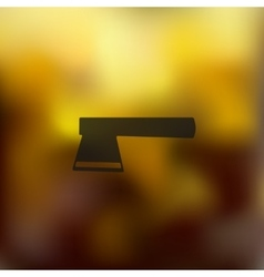 Axe icon on blurred background vector