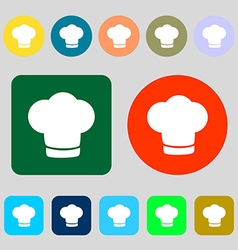 Chef hat sign icon cooking symbol cooks hat 12 vector