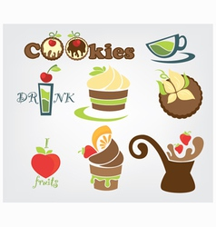 Funny cookies vector