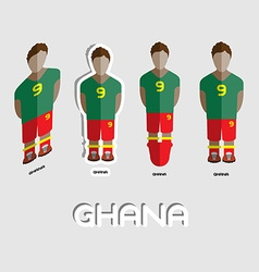 Ghana soccer team sportswear template vector