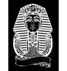 Vintage pharaoh with place for your text vector
