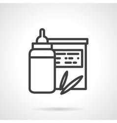 Baby organic food icon Milk bottle vector image