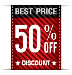 Best price banner and discount on white background vector