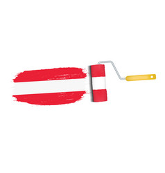 brush stroke with austria national flag isolated vector image vector image