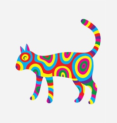 Cat colorfully vector