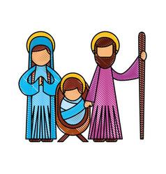 Christmas nativity scene holy family jesus mary vector