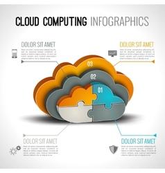 Cloud computing infographics vector image vector image