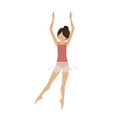 colorful dancer clears behind fifth position vector image