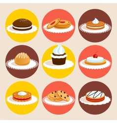 Cookies colored set vector
