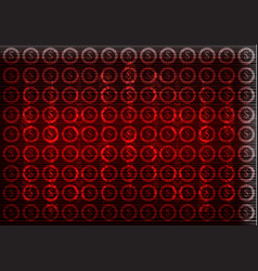 Dollar icons on a red background high tech vector