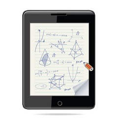 e-learning concept tablet computer vector image vector image
