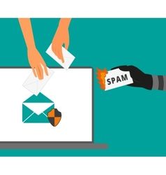 Email protection from spam vector image vector image