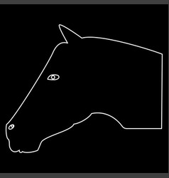 Horse head the white path icon vector