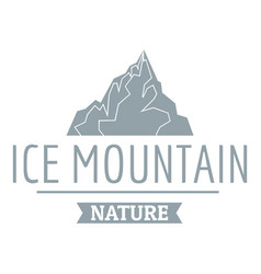 ice mountain logo simple gray style vector image