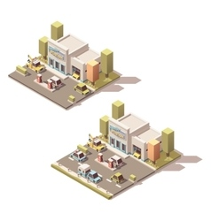 isometric car Service vector image