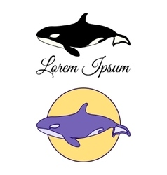 Killer Whale emblems vector image