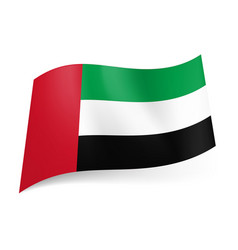 National flag of united arab emirates green vector