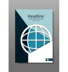 Network globe cover design a4 vector