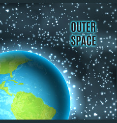 Outer space earth vector