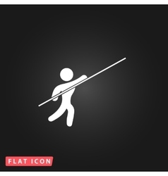 Pole vault athlete vector